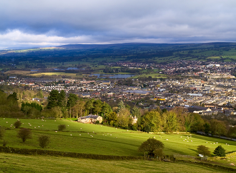 Mid Wharfedale from Otley Chevin