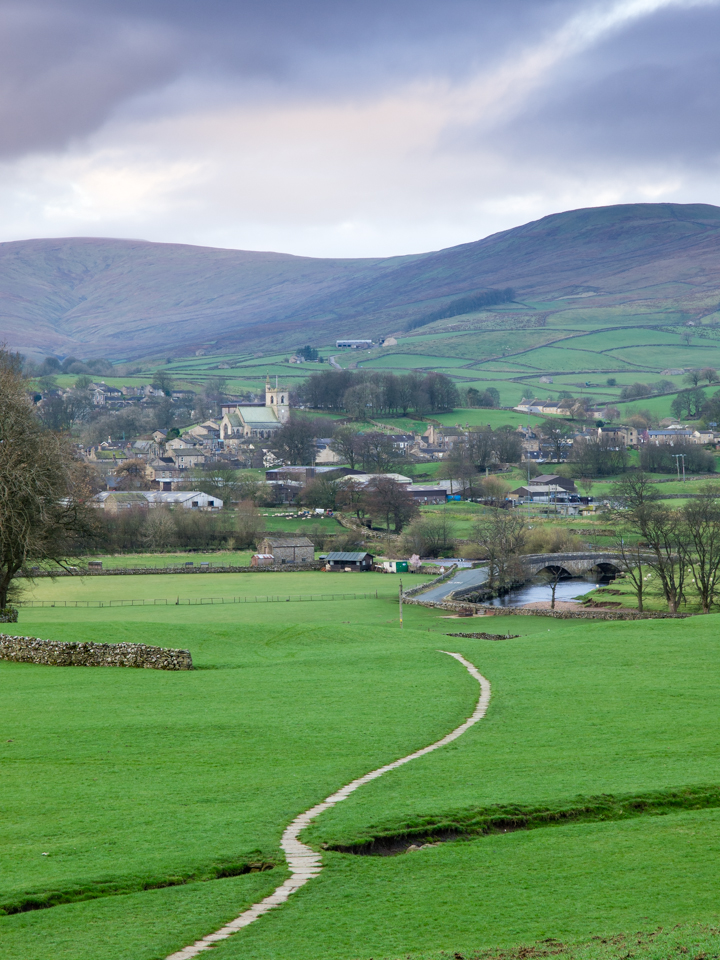 Footpath from Sedbusk to Hawes, Wensleydale