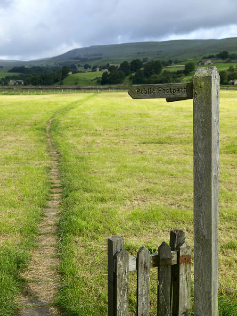 Field path, Worton to Askrigg