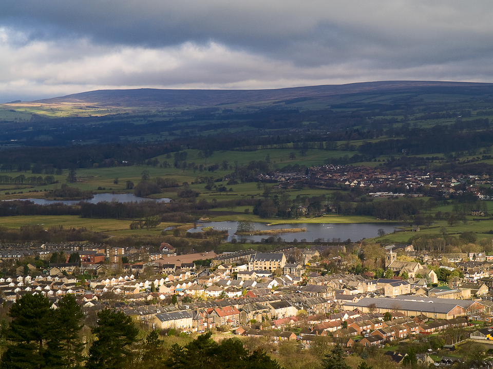 Otley town from the Chevin
