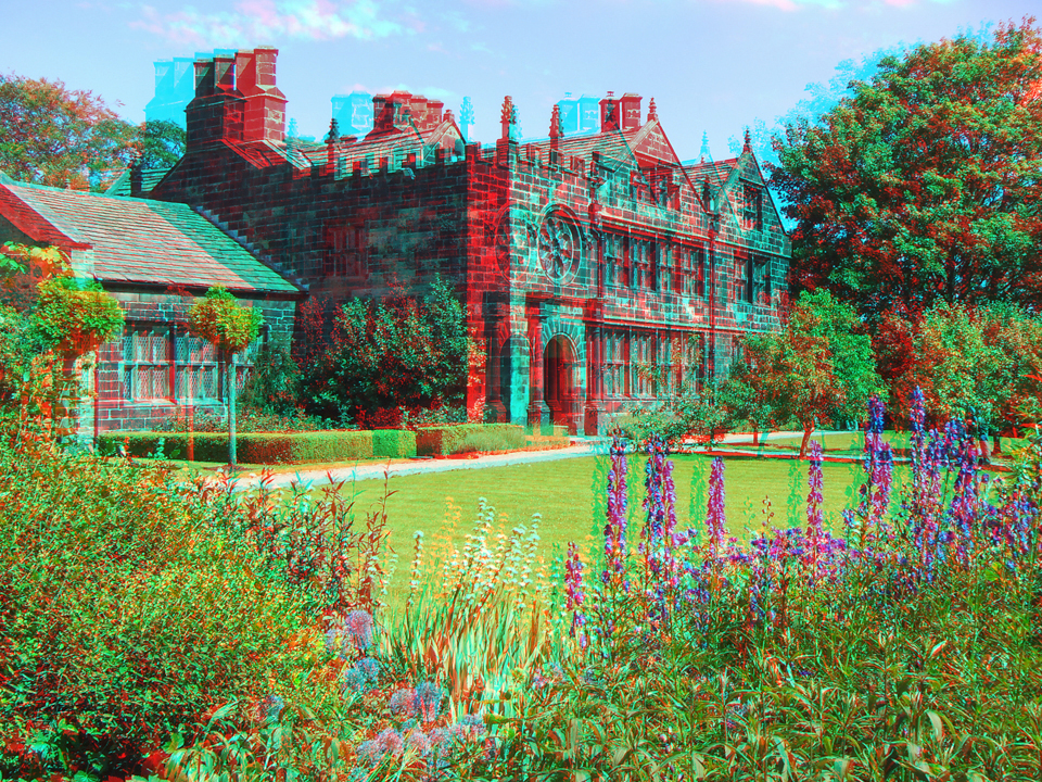 East Riddlesden Hall (Stereo Anaglyph)